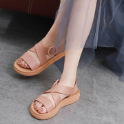 Sandals fashionable and versatile summer gentle fairy wind net red flat sole