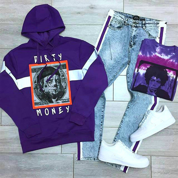 DIRTY MONEY hoodie&pant set