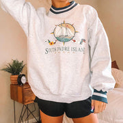 South padre island print sweatshirt