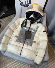 Color block puff winter jacket
