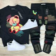Fashion bear sports style suit