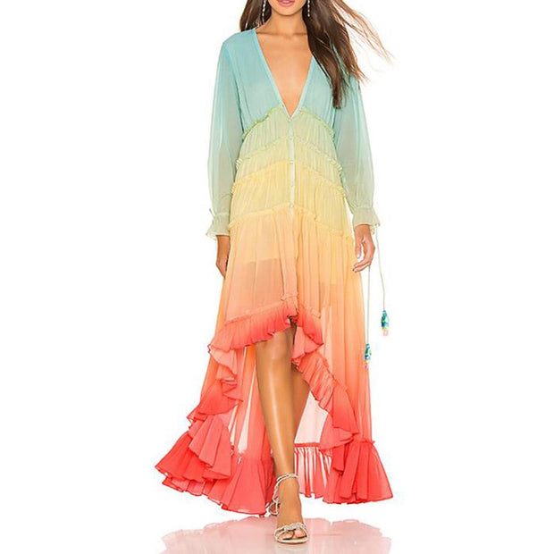 Beach dress women's summer and autumn new Bohemia women's long dress
