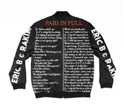 Character and money print sports style jacket