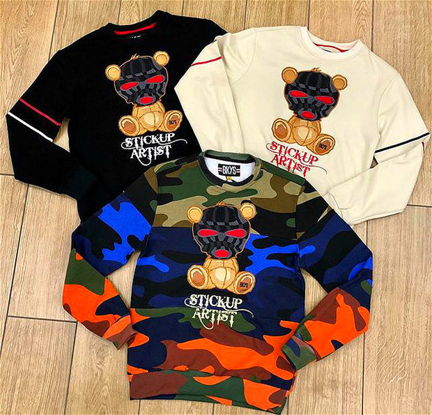 Camo bear fashion streetwear sweatshirt
