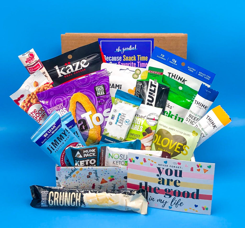 The Kinda Keto box is a snack box filled with Keto friendly snacks. Great as a gift or as a subscription service.
