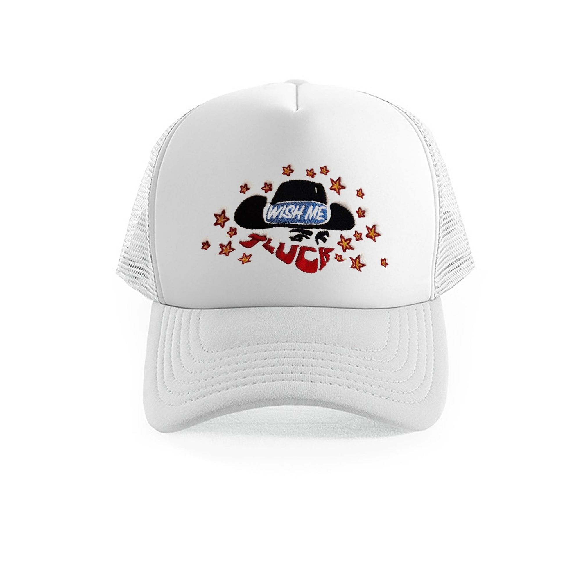 Lucky Cowboy Trucker Cap (WHITE)