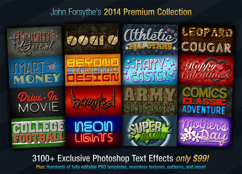 John Forsythe's Text Effects: 2014 Premium Collection