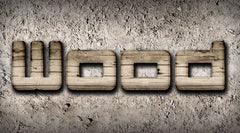 Wood Text Effects - Weathered Woods