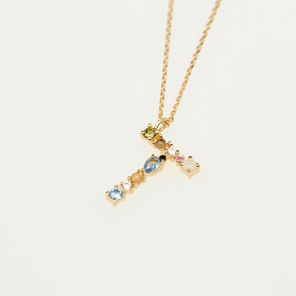 Collier Lettre T - collection I am  - PD paola bijoux Paris