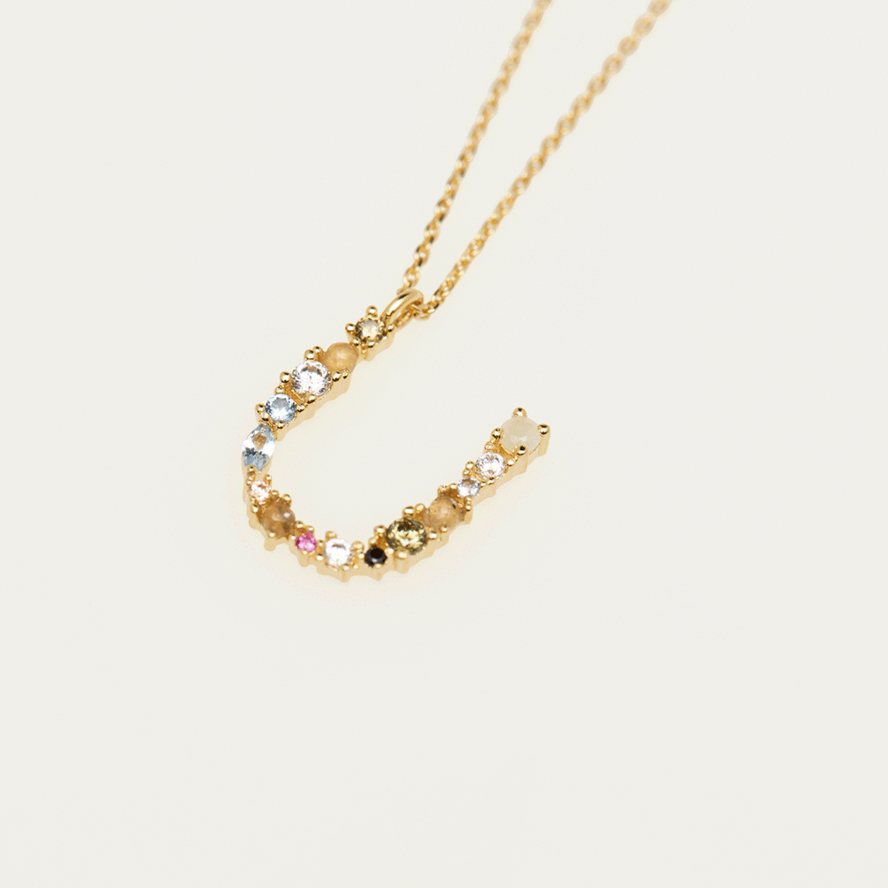 Collier Lettre U - collection I am - PD paola bijoux Paris