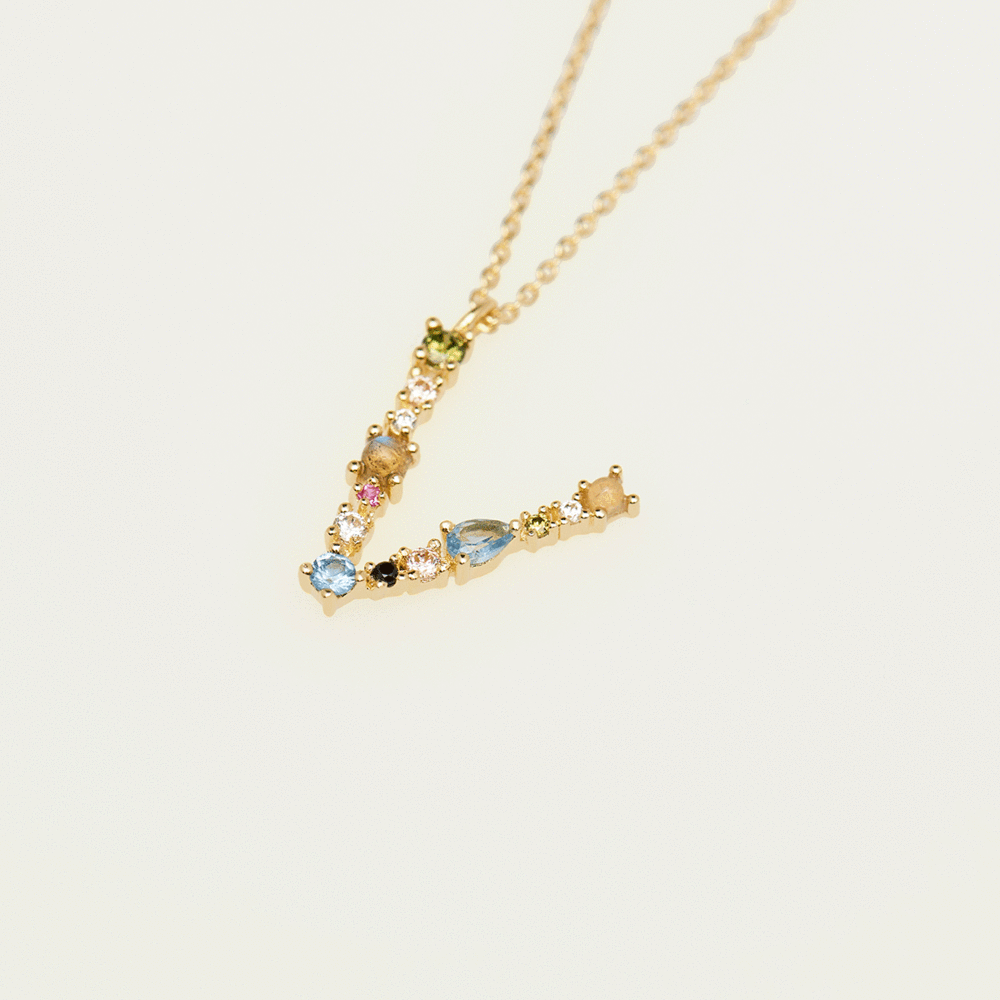 Collier Lettre V - collection I am - PD paola bijoux Paris