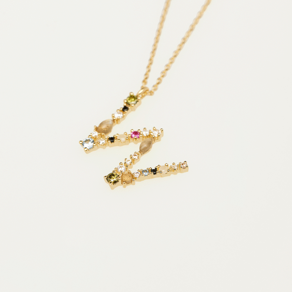 Collier Lettre W - collection I am - PD paola bijoux Paris