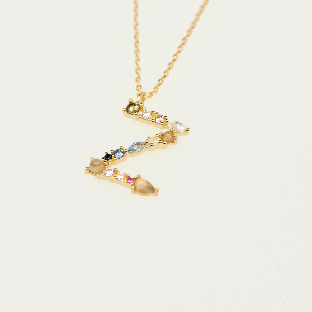 Collier Lettre Z - collection I am - PD paola bijoux Paris