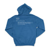 EMBROIDERED WAFFLE HOODIE - ROYAL BLUE