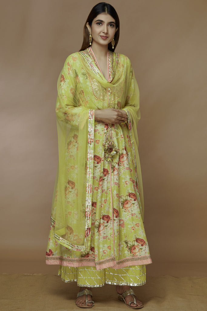 Bagh Yellow Sharara Set-Sharara Set-Gopi Vaid Designs