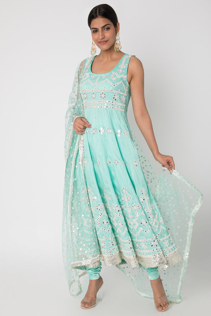 Raas Blue Ag Set-Anarkali-Gopi Vaid Designs