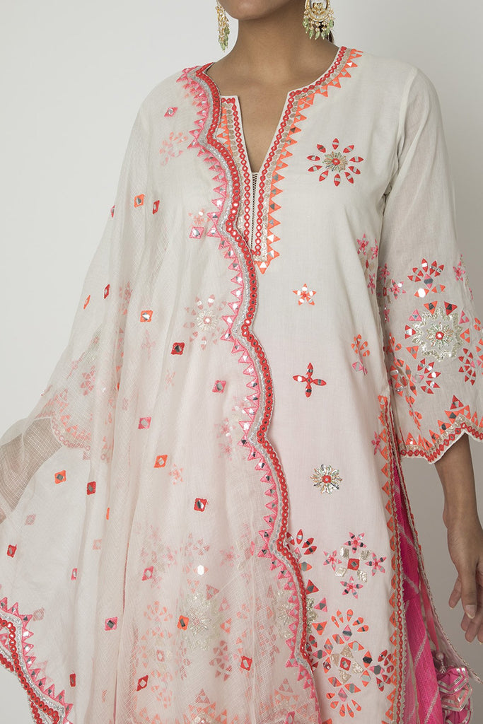 Mela Sharara Set- Off- White-Sharara Set-Gopi Vaid Designs