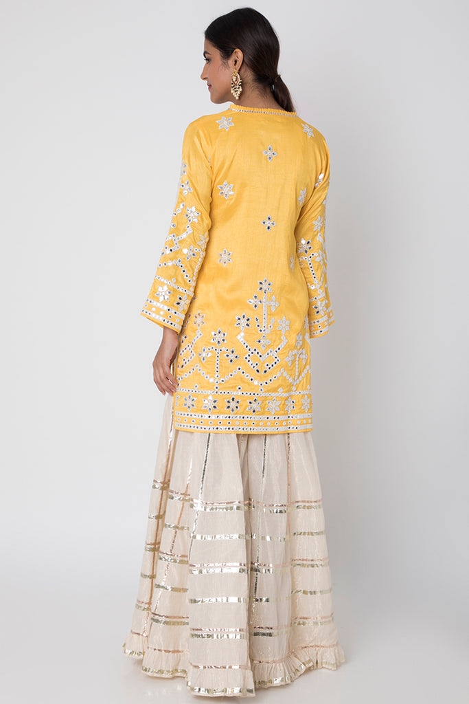 Raas Yellow Sharara Set-Sharara Set-Gopi Vaid Designs
