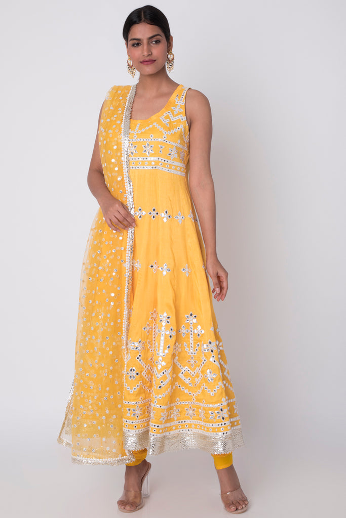 Raas Yellow Ag Set-Kurta-Gopi Vaid Designs