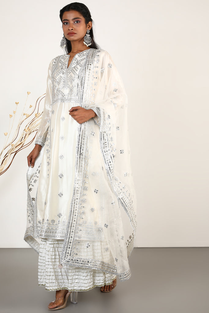 Chand Tunic Set- Ivory-Tunic Set-Gopi Vaid Designs