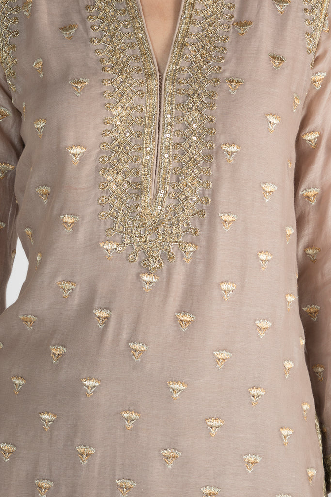Meera Kurta With Palazzo-Palazzo Set-Gopi Vaid Designs