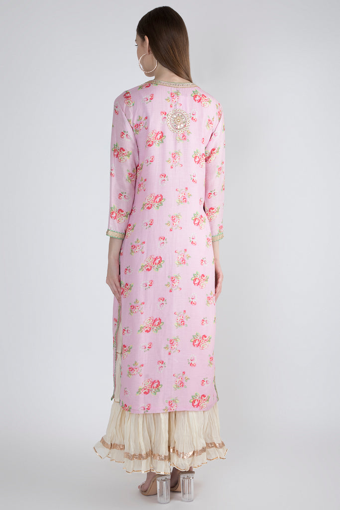 Rose Light Pink Tunic-Tunic-Gopi Vaid Designs