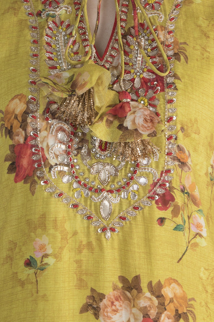 Jaipur Tunic- Yellow-Tunic-Gopi Vaid Designs