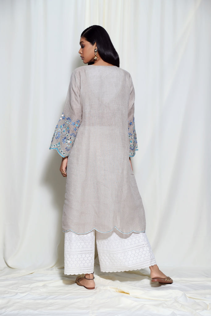 Mela Dress- Grey-Tunic-Gopi Vaid Designs