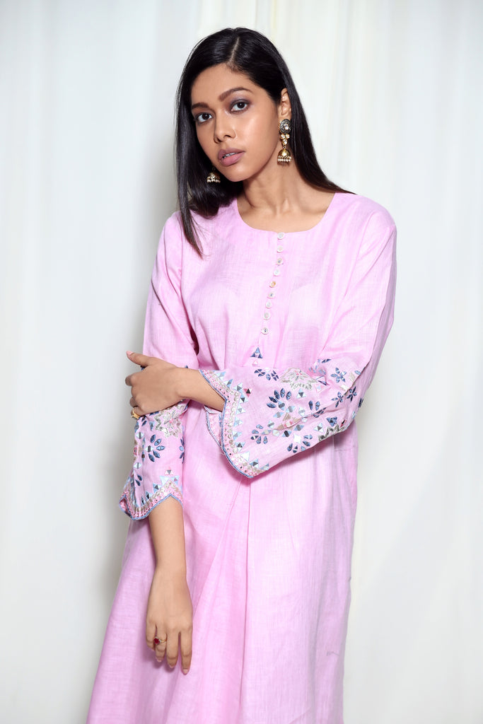 Mela Dress- Pink-Tunic-Gopi Vaid Designs