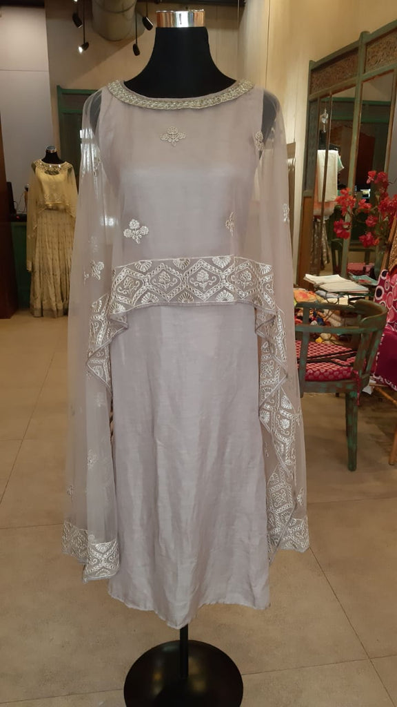 RG Cape Dress-Dresses-Gopi Vaid Designs