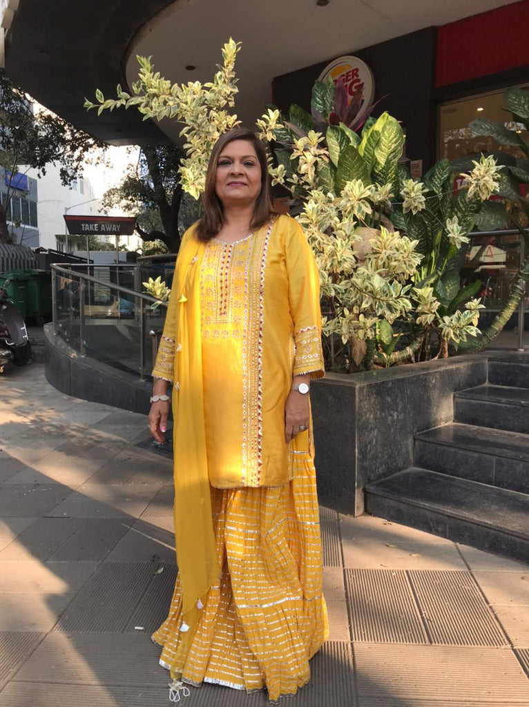 Sima Taparia in Gota Sharara Set-Sharara Set-Gopi Vaid Designs