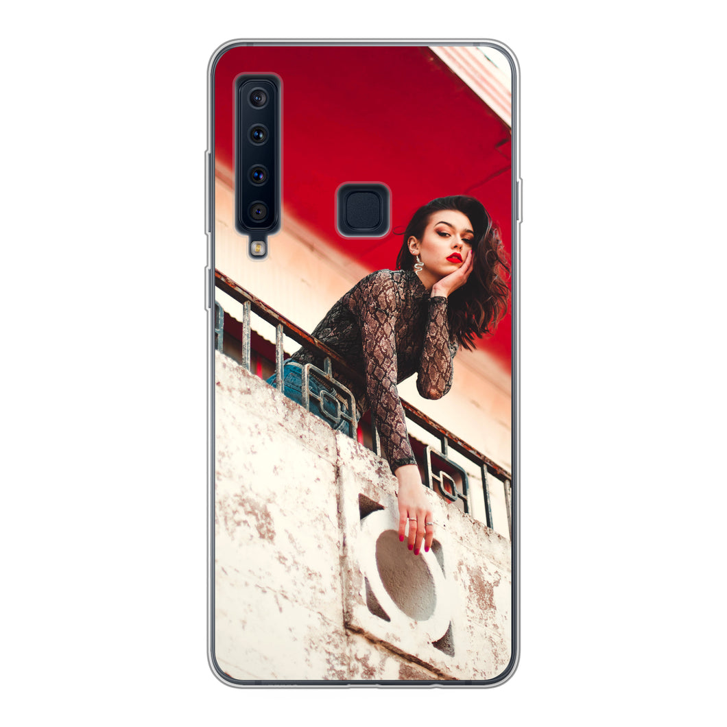 Samsung Galaxy A9 (2018) Soft case (back printed, transparent)