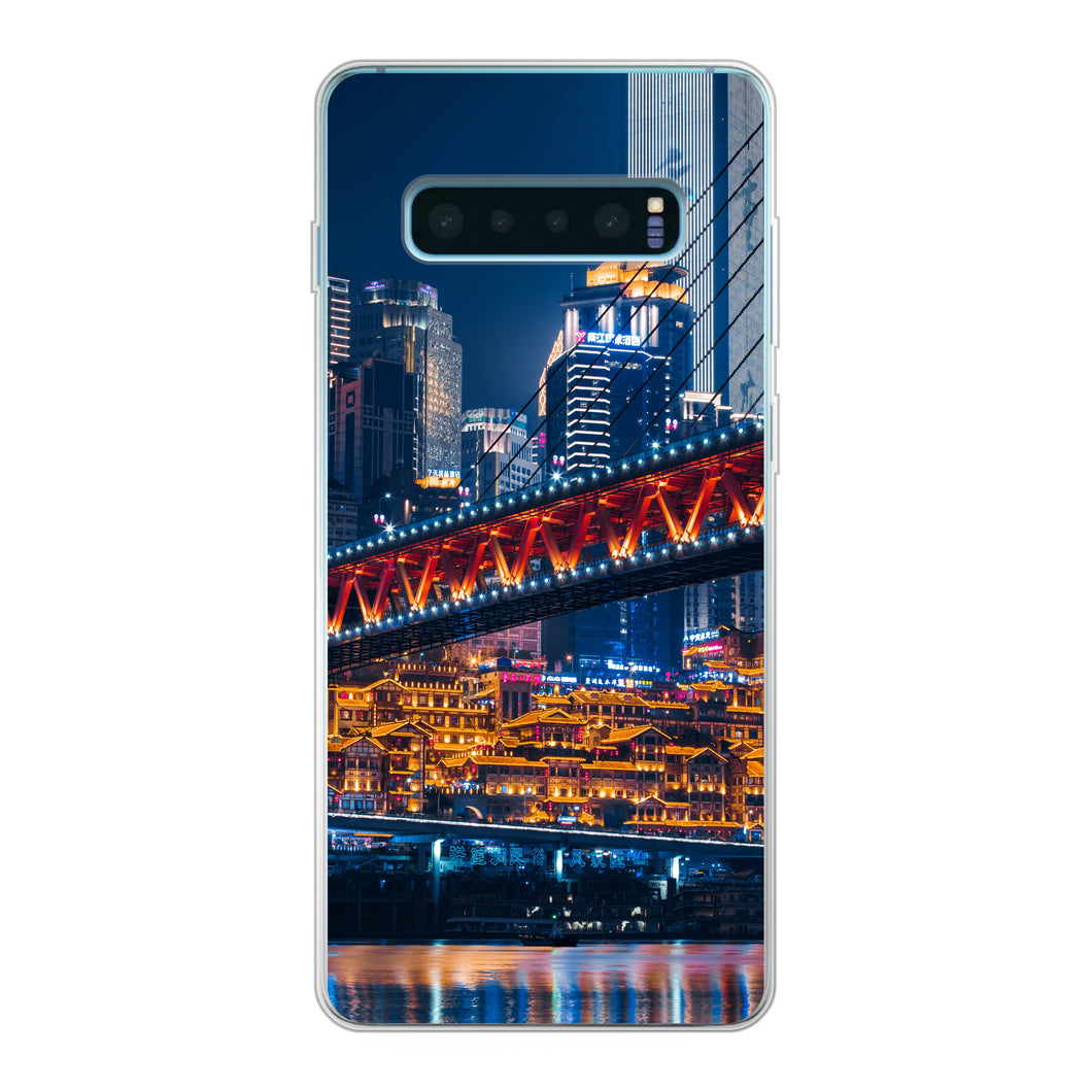 Samsung Galaxy S10 Plus Soft case (back printed, transparent)