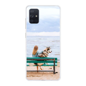 Samsung Galaxy A71 Soft case (back printed, transparent)