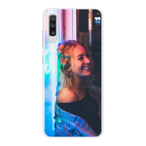 Samsung Galaxy A70 Soft case (back printed, transparent)