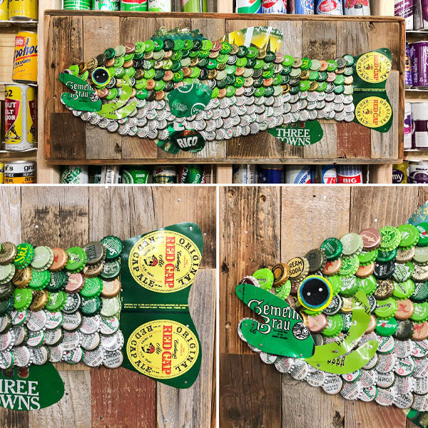 Soda Can and Bottle Cap Bass Fish