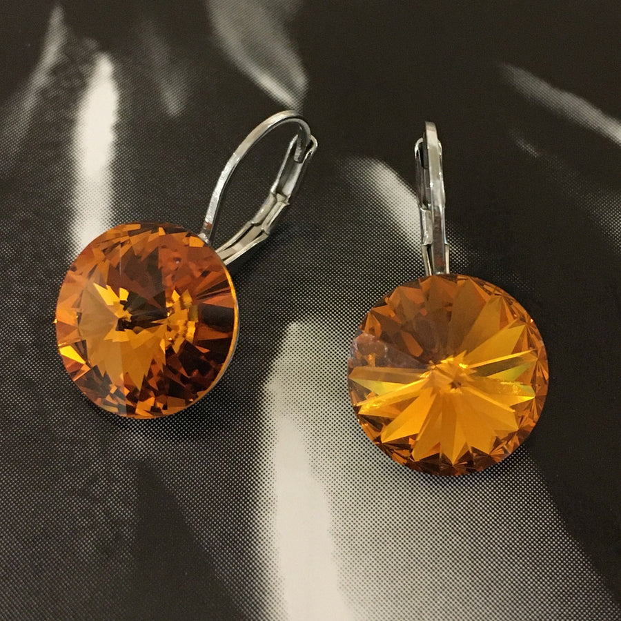 Swarovski Crystal Earrings - Sunflower
