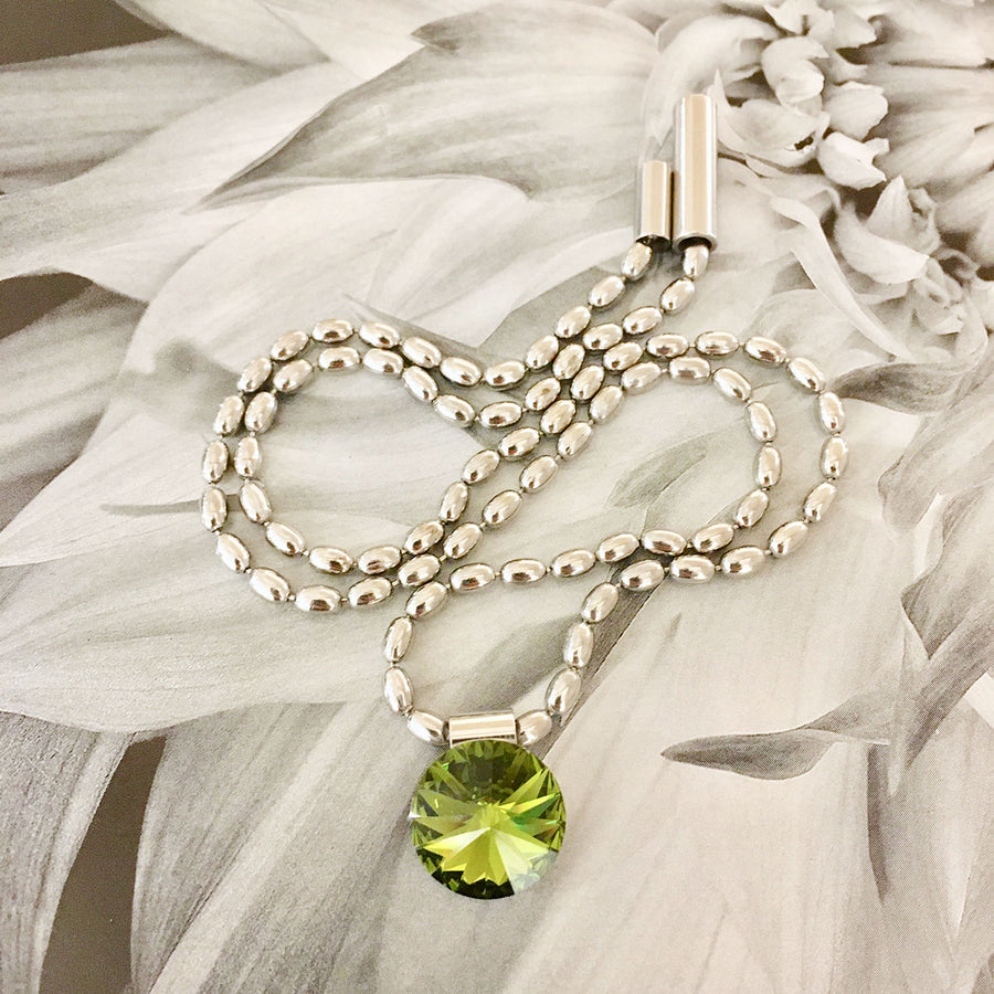 Swarovski Crystal Necklace - Peridot