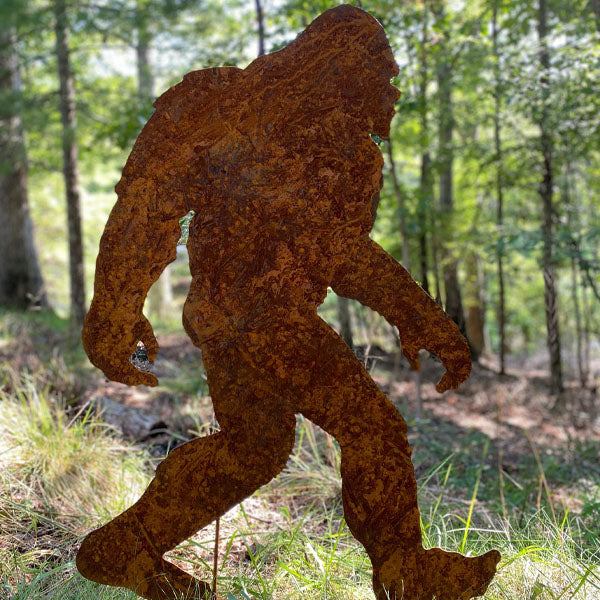 Medium Sasquatch Metal Sculpture