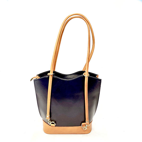 Blue Italian Radda Handbag/Backpack