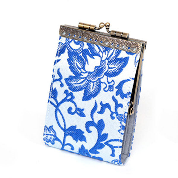 Card Holder - Blue Floral