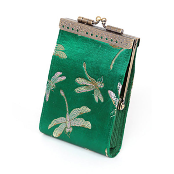 Card Holder - Green Dragonfly