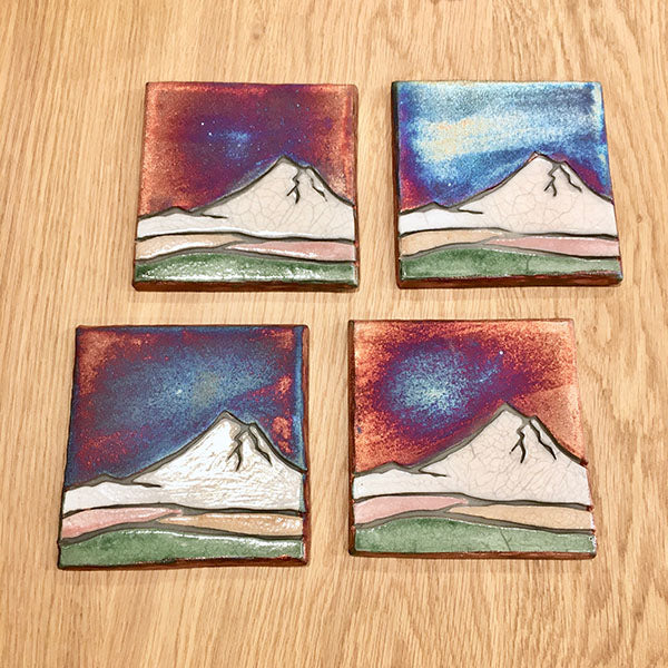 Mountain Scene Coaster Set of 4