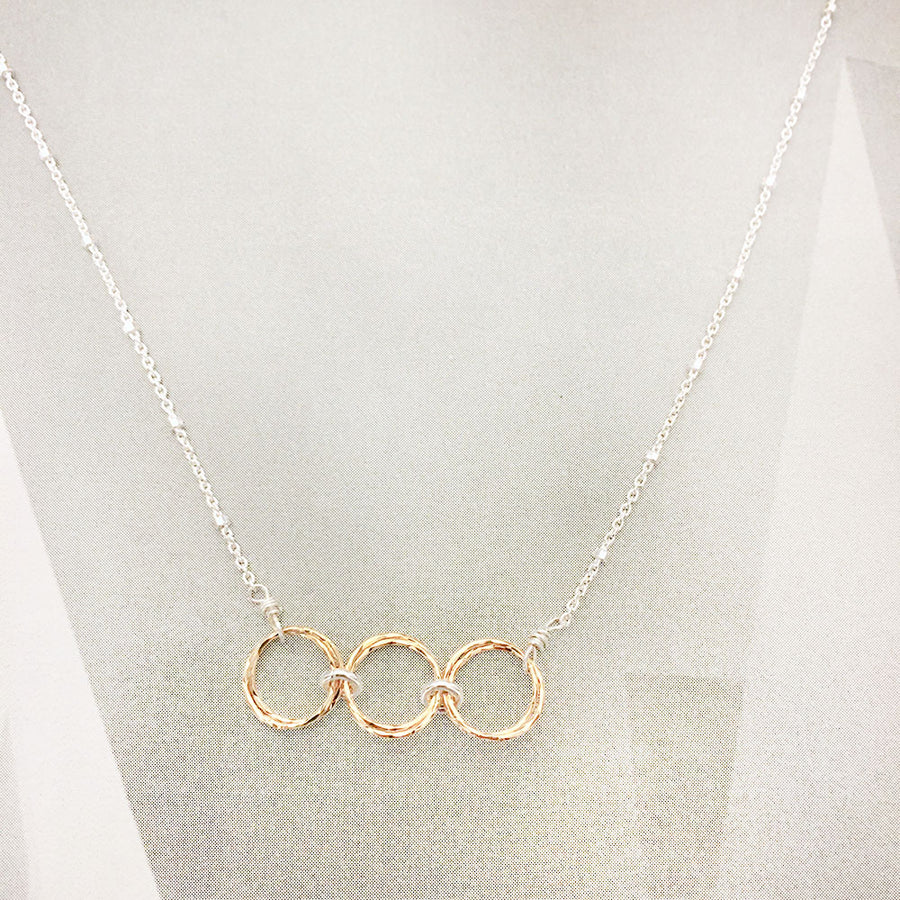 Triple Harmony Necklace - Gold/Silver