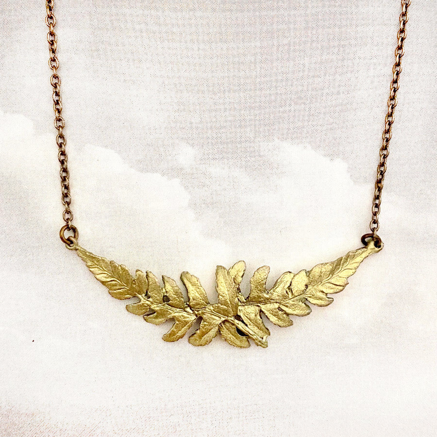 Dainty Fern Leaf Necklace