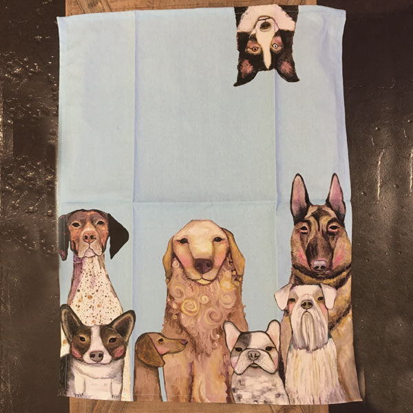 "Dish Towel - ""Dogs, Dogs, Dogs"""