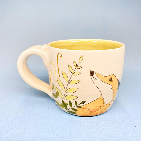 Fox Looking Up Ceramic Coffee Mug