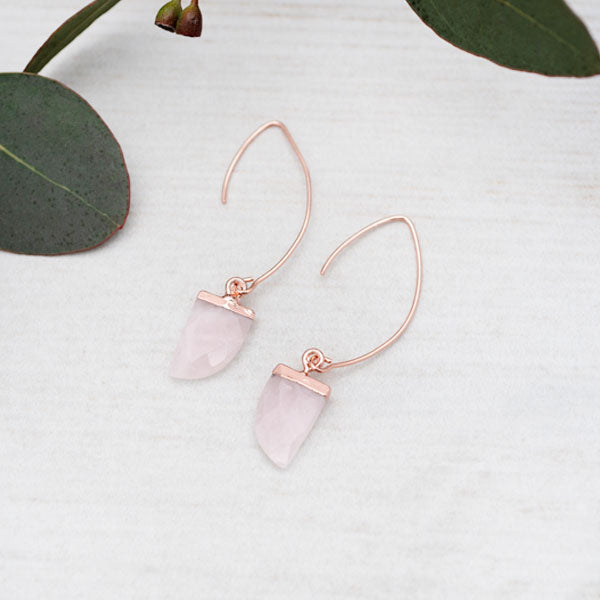 Chic Rose Quartz Earrings