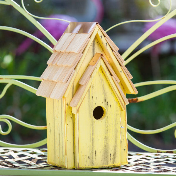Bluebird Yellow Birdhouse