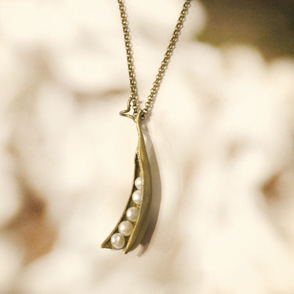 Five Pearl/Peapod Necklace